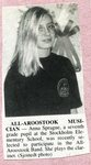 Newspaper Clipping- Anna Sprague                participate in the All Aroostook Band.