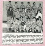 Newspaper Clipping - Swedes Varsity basketball team - 1994
