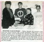 Newspaper Clipping - Booster Club received a donation check from the North Star Senior Citizens.