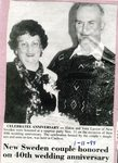 Newspaper Clipping - Eldon & Vera Larson for their 40th wedding anniversary - Jan. 11, 1995