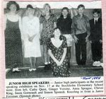 Newspaper Clipping - Stockholm students that participated in the speaking exhibition on Nov 17, 1994