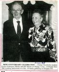 Newspaper Clipping -  Evelyn (Sodergren) Moran &  Bill Moran celebrating their 50th wedding annivesary - Jan. 11, 1995