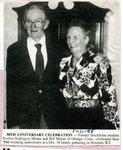 Newspaper Clipping - Evelyn (Sodergren) Moran & Bill Moran celebrating their 50th wedding annivesary - Jan. 11, 1995