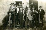 "Stockholm Band -""A Bunch of Boys"" - Front Row - Oscar Beckstrom; Edward Anderson; Goran Anderson; Eric Sangren; Albert Naslund; Peter Olson; John Sjostedt; Back Row - John Soderstrom; George Wik; Carl Beckstrom; Adolph Beckstrom; Gottfred Oberg' Victor Oberg"