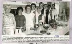 Newspaper Clipping - Swedish Supper Committee  1989 - Thelma Nelson; Diane Perry; Margaret Johnson; Penny Johnson; Frances Nelson; Debbie Blanchette; Karen Wakem; Diane Dubois & Kathy Carlson