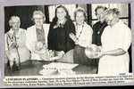Newspaper Clipping - Mexican Luncheon planners  1990 - Thelma Nelson; Millie Forbes; Karen Wakem; Elaine Jepson; Marilyn McDougal; Cora Cochran