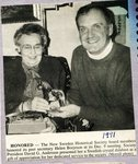 Newspaper Clipping 1991 - Helen Borjeson & David Anderson
