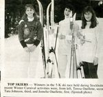 Newspaper Clipping  1991 - Stockholm Carnival - Teresa Ouellette; Tara Johnson & Jemelie Ouellette