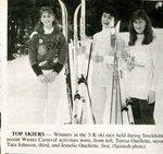 Newspaper Clipping 1991 - Stockholm Carnival - Teresa Ouellette; Tara Johnson & Jemelie Ouellette