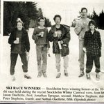Newspaper Clipping 1991 - Stockholm Carnival - Jason Ouellette, Jonathan Sprague, Matthew Stephens, Peter Stephens & Nathan Ouellette