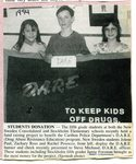 Newspaper Clipping - 1994 - Stockholm fifth grade D.A.R.E fund raising