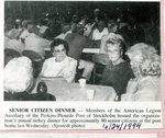 Newspaper Clipping -  June 24, 1994 -  Senior Citizen's dinner at The American Legion.