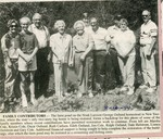 Newspaper Clipping - Family members of the Noak Larson - George Ostlund log home