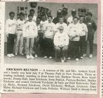 Newspaper Clipping - Erickson Reunion