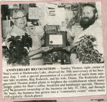 Newspaper Clipping - Stanley Thomas anniversary recognition