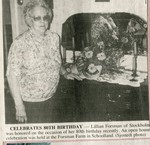 Newspaper Clipping - Lillian (Peterson) Forsman - 80th Birthday celebration