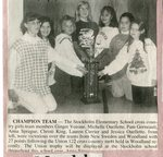 Newspaper Clipping - Stockholm Elementary School cross country girls team - Ginger Voisine, Michelle Ouellette, Pam Gorneault, Anna Sprague, Christi King, Lauren  Currier & Jessica Ouellette.