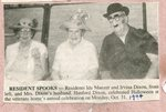 Newspaper Clipping - 1994 - Ida Manzer, Irvina Dixon & Hanford Dixon - Halloween at the Veteran's Home.