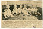 Newspaper Clipping - 1965 - Sandstrom triplets - Carla Ann, Cathy Ann & Carol Ann. Carpenter triplets - Scott Allen, Keith Brian & Gary Clark