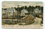 1906 colored postcard of Stockholm, ME
