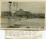 Flood of 1923 that took the old wooden bridge away.
