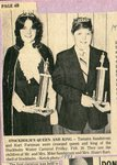 Newspaper clipping -1981 -  Carnival Queen & King, Tamara Sandstrom and Kurt Forsman