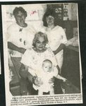 Newspaper clipping - 1989 - Four generations - Great-grandmother, Lena Akerson with great-grandaugter, Danielle Marie Nichols; Grand-mother, Norma Lagasse; Lori Nichols.