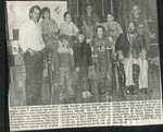 Newspaper clipping - 1989 - Stockade chapter of the Aroostook Brigade Camp in Stockholm donation of clothers.