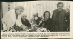 Newspaper clipping - 1989 -  North Star Senior citizens holiday party. Ora Trobaugh, Merrita Anderson, Madge Nelson and Mildred Taylor