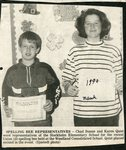 Newspaper clipping - 1990 - Spelling bee representatives - Chad Bossie and Karen Quist