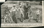 Newspapar clipping - 1990 - St, Jude Bike-a-thon with Simon Sjostedt,  Derek Campbell, Brandon Bunnell, Jack Campbell, Samuel Sjostedt with Alton Wardwell