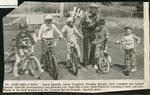 Newspapar clipping - 1990 - St, Jude Bike-a-thon with Simon Sjostedt, Derek Campbell, Brandon Bunnell, Jack Campbell, Samuel Sjostedt with Alton Wardwell