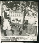 Newspaper clipping - New Sweden Little Folk Dancers, Nicholas Flavin and Missy Doar