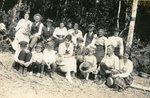 Alfred Swenson's family - Back row - Emmy (Swenson) Jepson; Eddy Jepson; Eric O. Hedman; Ida (Swenson) Hedman; Brita (Sodergren) Swenson; Peter Sodergren; Charlotte (Swenson) Sodergren; Alfred Swenson; Front row - Alfred Hedman, Hartley Jepson; Raymond Hedman; Beatrice Hedman; Albner Jepson; ??; Carl Tjernstrom; Lottie (Swenson) Tjernstrom