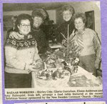 Newspaper clipping - 1990 - Shirley Cote, Gloria Gustafson, Eloise Anderson, Amy Holmquist