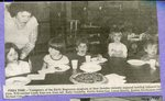 Newspaper clipping -                                               Early Beginnings program in New Sweden - Linda Ross, Kelly Ouellette, Emily Robertson, Lucas Sterris, Kristin Hawkinson, Michael Cote.