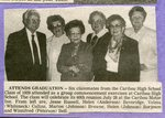 Newspaper clipping- Jesse Russell, Helen (Anderson) Beveridge, Velma (Whiteneck) Collins, Marion (Johnson) Browne, Helen (Johnson) Borjeston, Winnifred (Peterson) Bell