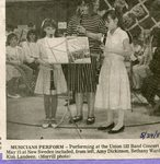 Newspaper clipping- May 24, 1989 - Union 122 band concert - Amy Dickson, Bethan Ward, Kim Landeen.
