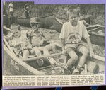 Newspaper clipping- Madawaska River Run - Sam Sjostedt, Jack Campbell and Simon Sjostedt.