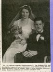 Newspaper clipping - Hartley & Albertine (Anderson) Jepson's wedding picture.