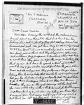 World War II letter from Hector Blanchette