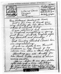 World War II letter from Earl R. Green