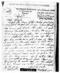 World War II letter from Wyllard P. Johnson
