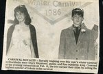 Newspaper clipping - Carnival Royalty - Tracy Raymond and Ron Ouellette