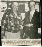 Newspaper clipping - Michael Sandstrom being recognized by the Central Aroostook Soil & Water Conservation.