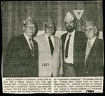 Newspaper clipping- 1987 - American Legion dinner - Fernald Anderson, Rev. Thomas Weir, James Johnson & Al Johnson