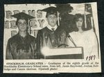 Newspaper clipping - 1987 - Stockholm graduates - Jason Raymond, Joshua Babbidge & Connie Akerson