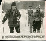 Newspaper clipping - Lutheran Church ski-a-thon, Frederick Anderson, Debbie, Jeanne & Michael Sund