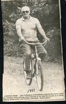 Newspaper clipping 1987 -  John Sodergren bicycling at Madawaska Lake