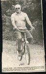 Newspaper clipping 1987 - John Sodergren bicycling at Madawaska Lake